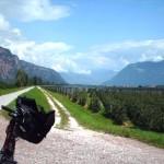Etsch Radweg kurz hinter Bozen