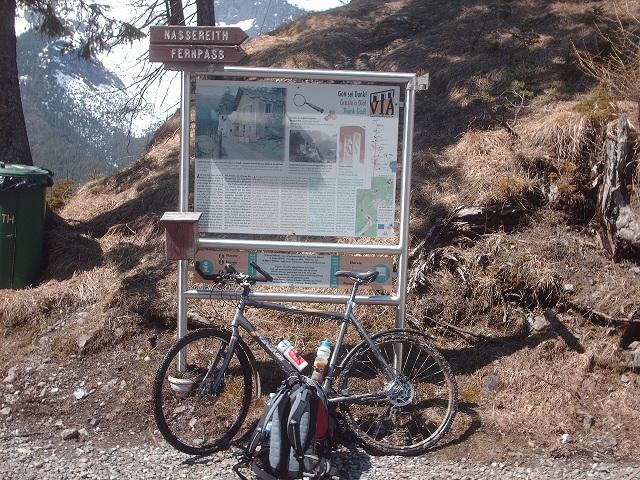 Der alte Fernpass in der Nähe von Biberwier